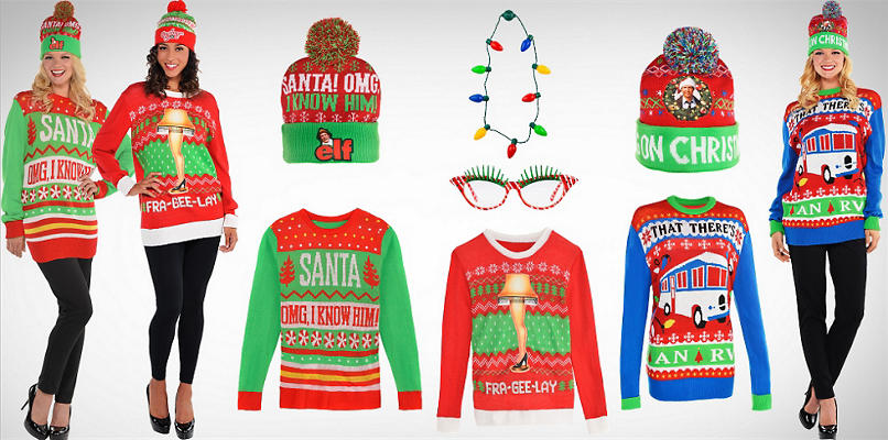 Women's Ugly Christmas Sweaters & Accessories