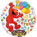 Foil Elmo Singing Balloon 28in