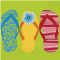 Flip Flop Beverage Napkins 16ct