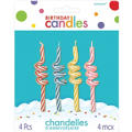 Coil Birthday Candles 4ct