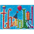 Party Time Thank You Notes 8ct