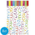 Large Bright Streamers Favor Bags 8ct