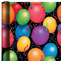 Jumbo Balloon and Confetti Gift Wrap