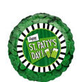 Foil Clover St. Patricks Day Balloon 18in