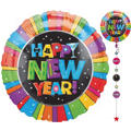 Happy New Year Jumbo Drop-A-Line Balloon 32in