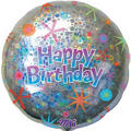 Foil Holographic Celebration Birthday Balloon 32in