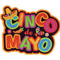 Glitter Cinco de Mayo Cutout 18in
