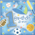 All-Star 1st Birthday Beverage Napkins 16ct