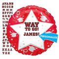 Foil Red Personalized Graduation Balloon