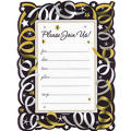 Silver Streamer Invitations 20ct