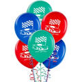 Latex Hot Wheels Balloons 12in 6ct