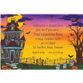 Haunted House Halloween Custom Invitation