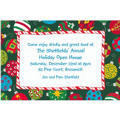 Colorful Tossed Ornaments Custom Christmas Invitation