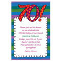 Big 70 Border Custom Invitation