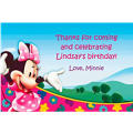 Minnie Mouse Clubhouse Custom Thank You Note