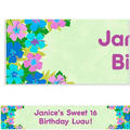 Custom Floral Paradise Cool Banner 6ft