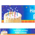 Sparkle Wishes Custom Birthday Banner