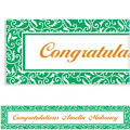 Festive Green Ornamental Scroll Custom Banner 6ft