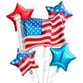 American Flag Balloon Bouquet 5pc