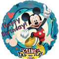 Foil Mickey Mouse Singing Balloon 28in