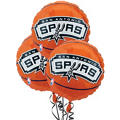San Antonio Spurs Balloons 18in 3ct