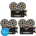 Hollywood Movie Camera Cutouts 12ct