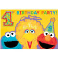 1st Birthday Sesame Street Invitations 20ct