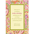 Pretty Paisley Custom Invitation