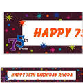 The Party Continues 75 Custom Banner 6ft