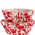 Red and White Elegant Baking Cups 50ct