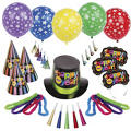 Multi Bright Star New Years <span class=messagesale><br><b>Party Kit For 50</b></span>