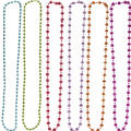 Happy Birthday Bead Necklaces 6ct - Rainbow Dot