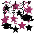 Burgundy Graduation Swirl Decorations 30ct