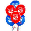 Latex New York Rangers Balloons 6ct