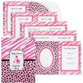Pink Safari Shower Keepsake Book 8in