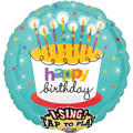 Foil Perfect Time To Party Happy Birthday Singing Balloon 28in