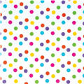Multicolor Dot Printed Tissue Paper 8ct