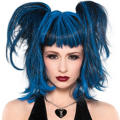 Blue & Black Punk Pixie Wig