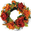Mum and Peony Wreath 16in