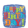Foil Birthday Fever Happy Birthday Balloon 18in