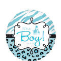 Foil Blue Wild Safari Baby Shower Balloon 18in