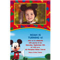 Mickey's Clubhouse Custom Photo Invitation