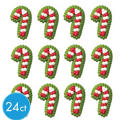 Mini Candy Cane Icing Decorations 24ct