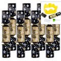 Black, Gold & Silver New Years Crackers 8ct