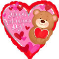 Foil Bear Hugs Valentines Day Balloon 18in