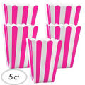 Bright Pink Popcorn Favor Boxes 5ct