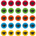 Glitter Graduation Cap Cutouts 2 1/2in 50ct