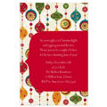 Charming Retro Ornaments Custom Invitation