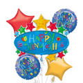 Foil Hanukkah Marquee Balloon Bouquet 5pc