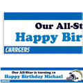 San Diego Chargers Custom Banner 6ft
